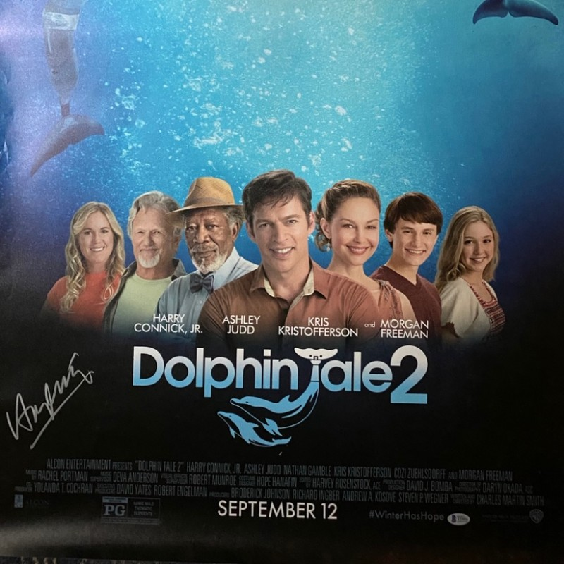 Harry Connick Jr. Signed Dolphin Tale 2 Original Movie Poster