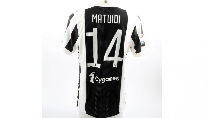 c625984d5 Matuidi s Worn and Unwashed Juventus-Bologna Shirt with 120 anni FIGC Patch