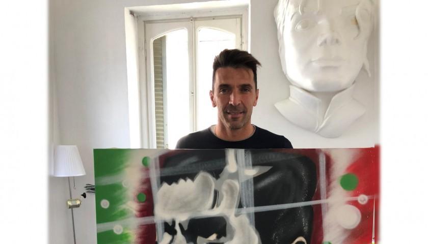 """""""Gigi Buffon"""" Artwork by Antonio Shades - Signed"""