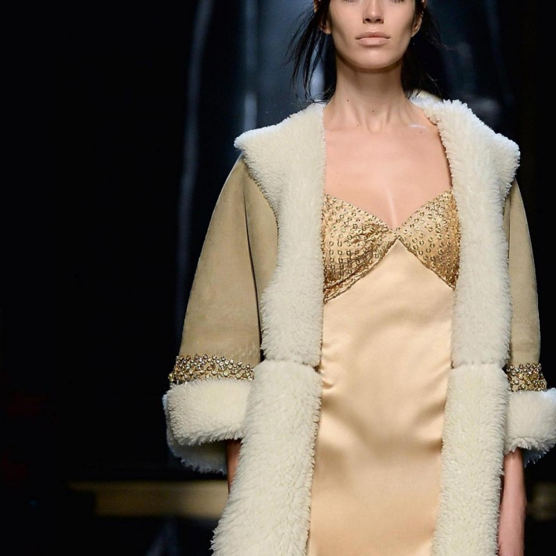 Attend the Ermanno Scervino runway show during Milan Fashion Week