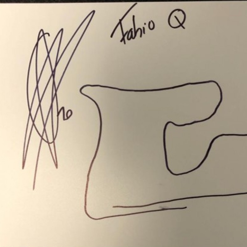 Signed Drawing of the Red Bull Ring Circuit - Austria by Fabio Quartararo