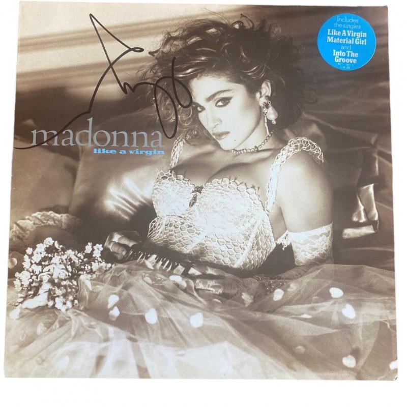 Madonna Signed Like A Virgin Vinyl LP Certified