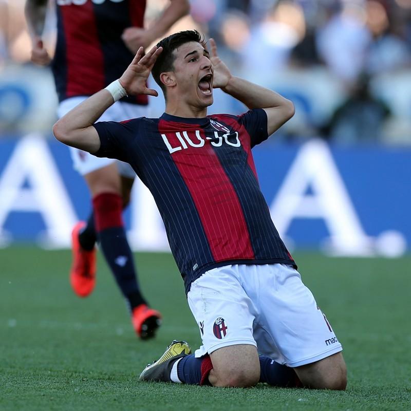 Orsolini's Official Bologna Signed Shirt, 2018/19