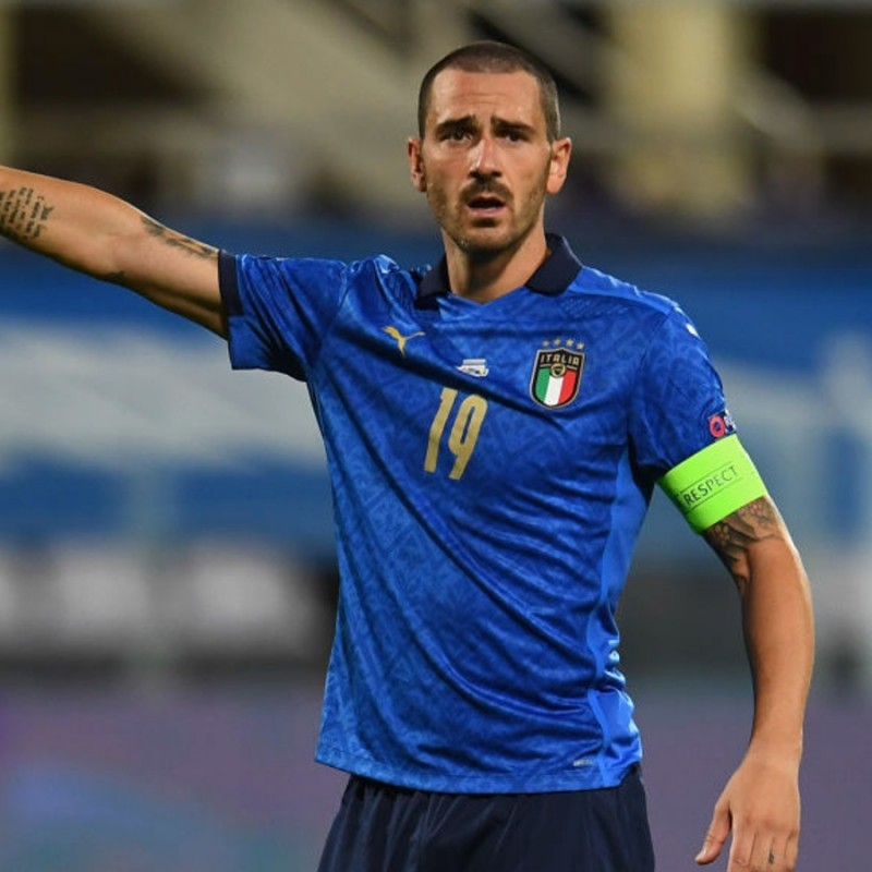 Bonucci's Match Shirt, Italy-Bosnia 2020