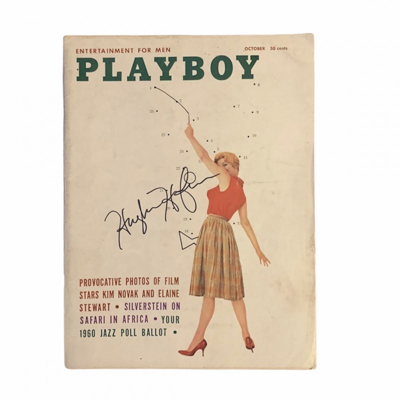 Hugh Hefner Signed Playboy Magazine October 1960
