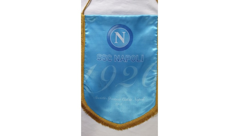 Official Napoli Pennant - Signed by Maradona