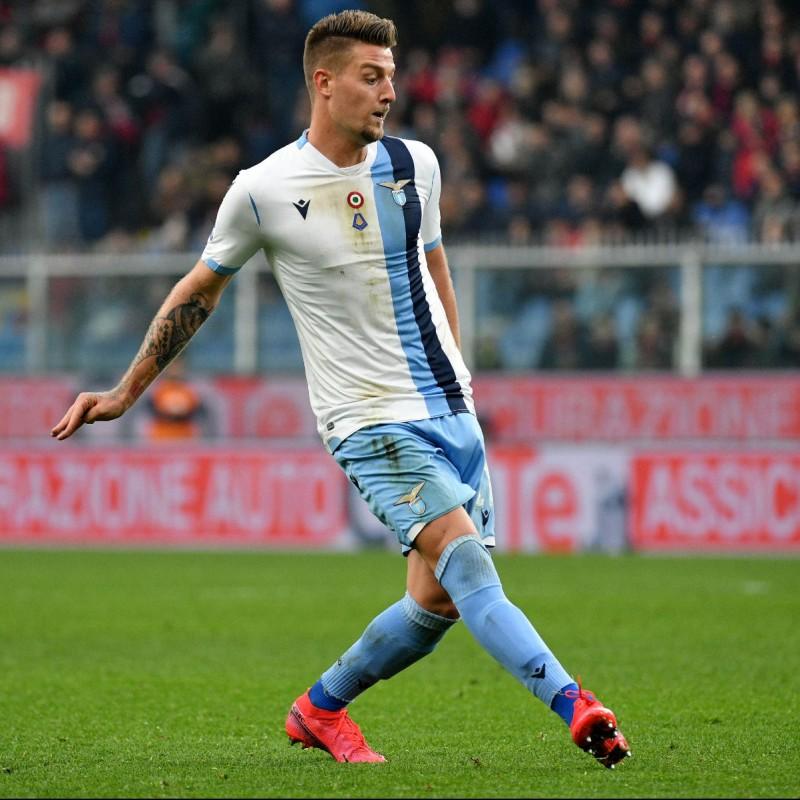 Milinkovic-Savic's Lazio Match Shorts, 2019/20