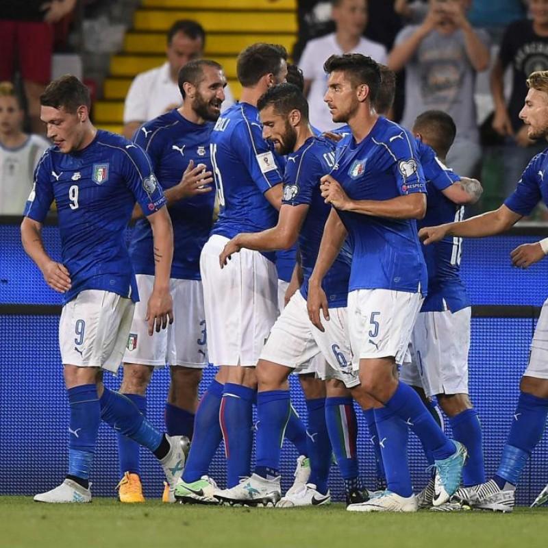 Chiellini's Match Shirt, Italy-Liechtenstein 2017