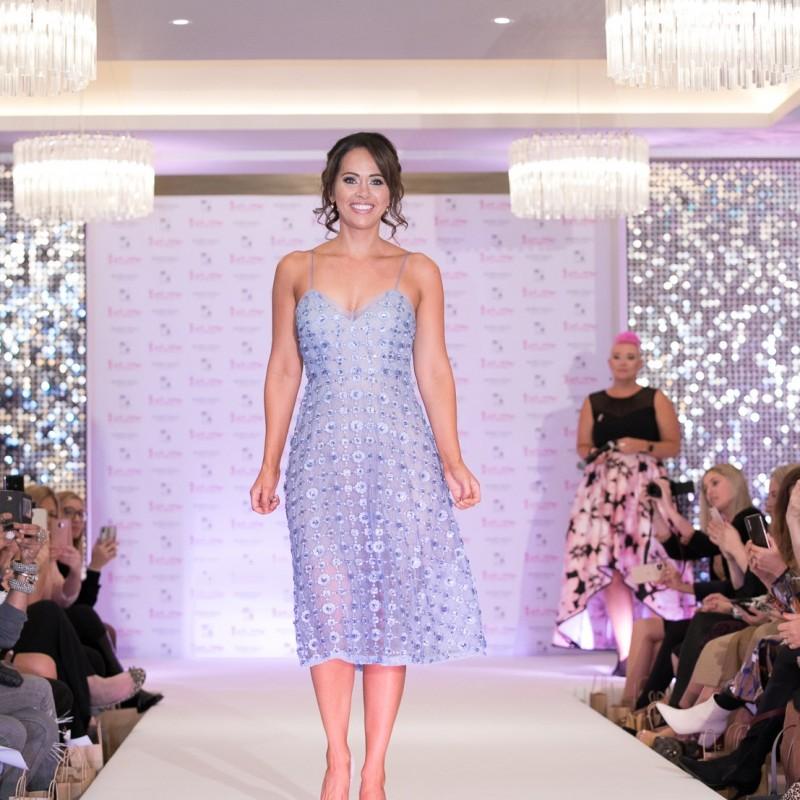 Periwinkle Aidan Mattox Dress Worn by Hayley Sparkes
