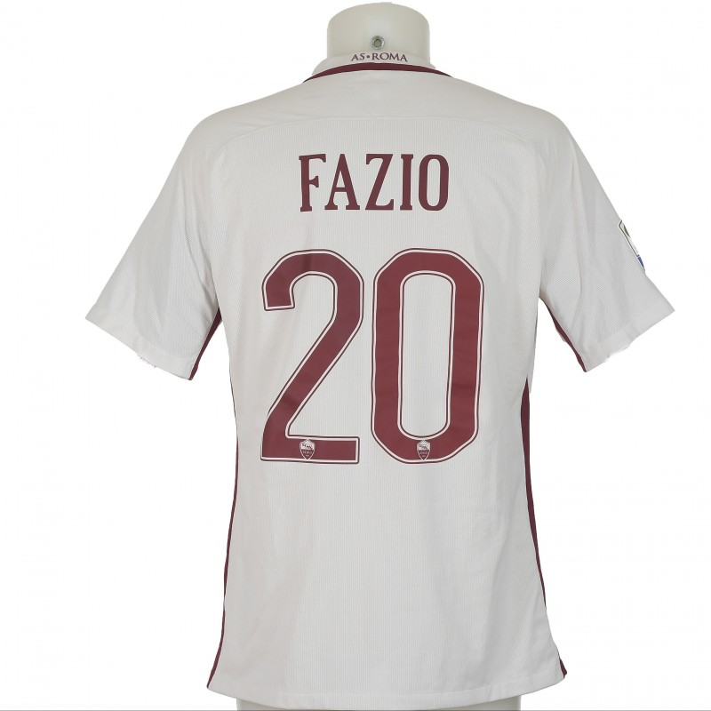 Fazio's Match-Worn 2016/17 Bologna-Roma Shirt