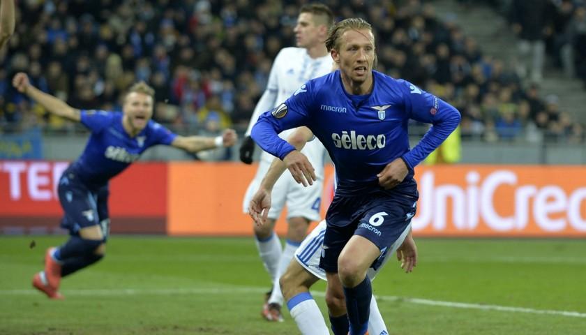 Lucas Leiva's Lazio Match-Issue/Worn Shirt, EL 2017/18