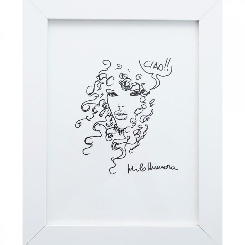 'Miele' - Pen Drawing by Milo Manara