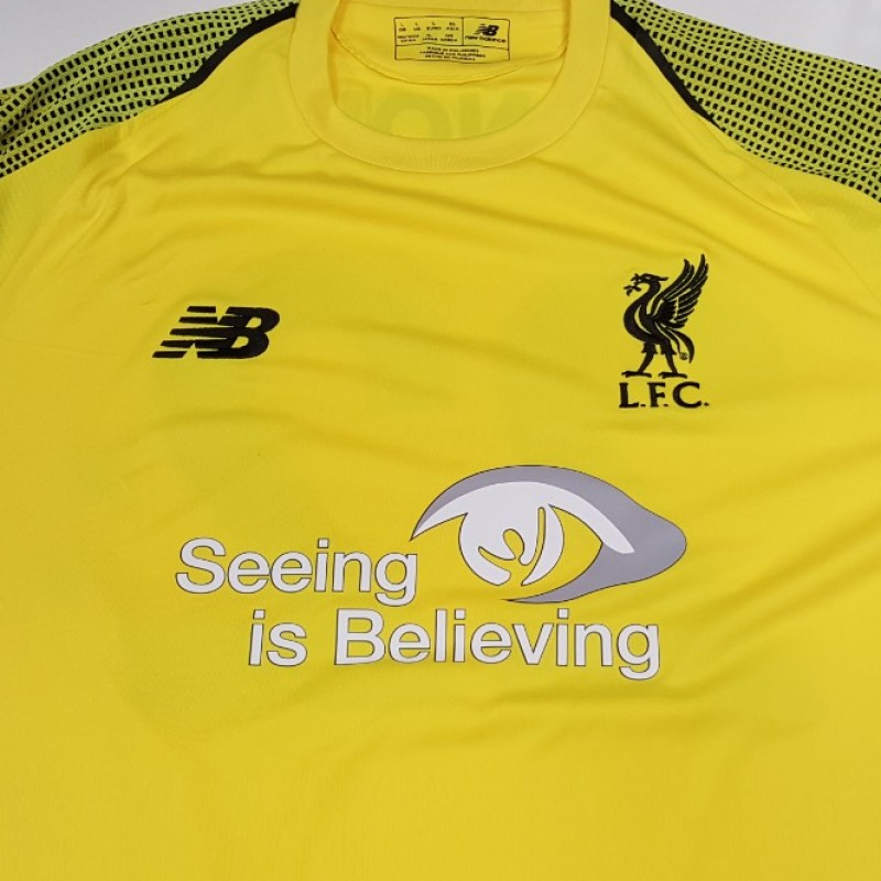 Match-Issued 2018/19 LFC Home Shirt signed by Alisson Becker