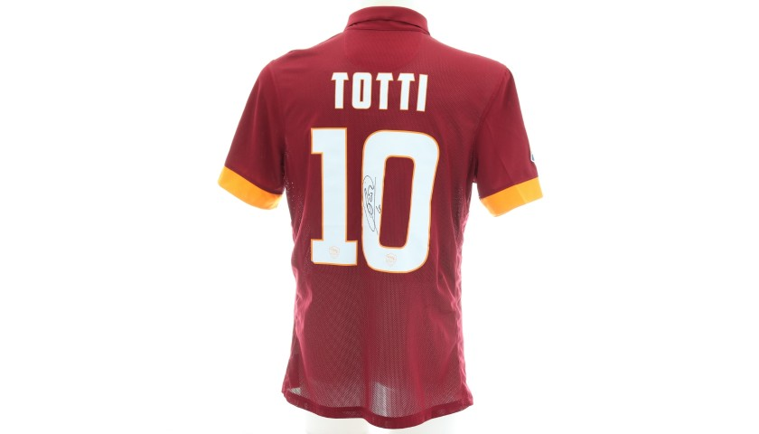 Totti's Authentic Roma Signed Shirt, 2014/15