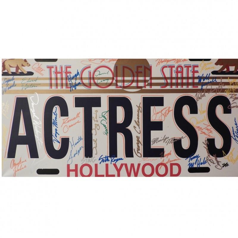 """Actress"" by Steve Kaufman"