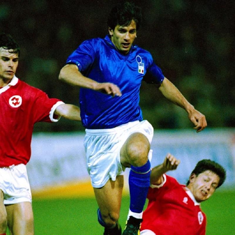 Italy Training Shirt, 1993/94 - Signed by Gianluigi Lentini