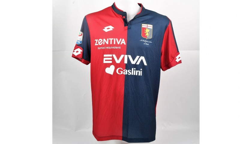 Rigoni's UNWASHED Special Genoa-Sampdoria Match-Worn Shirt