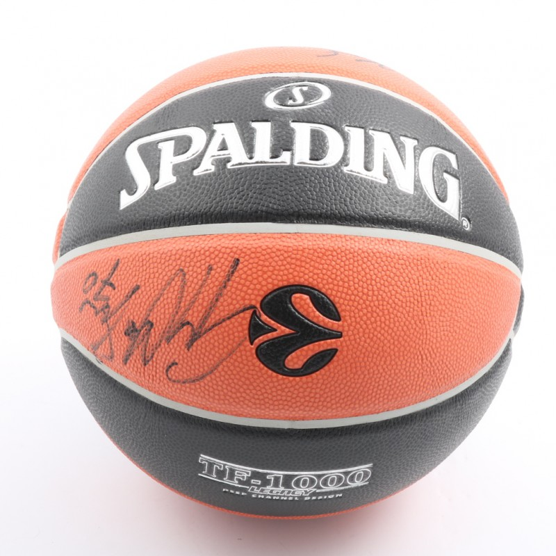 Official 2018 Turkish Airlines EuroLeague Final Four Ball Signed by One Team Ambassadors