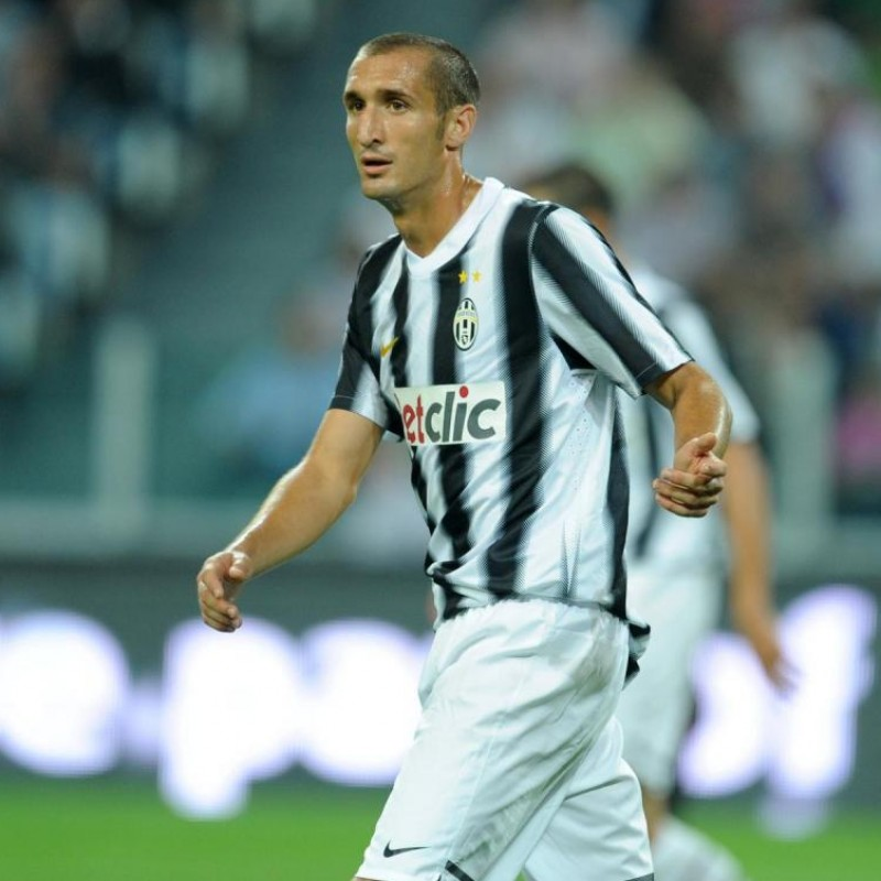 Chiellini's Match Shirt, Juventus-Notts County 2011 - Special Patch