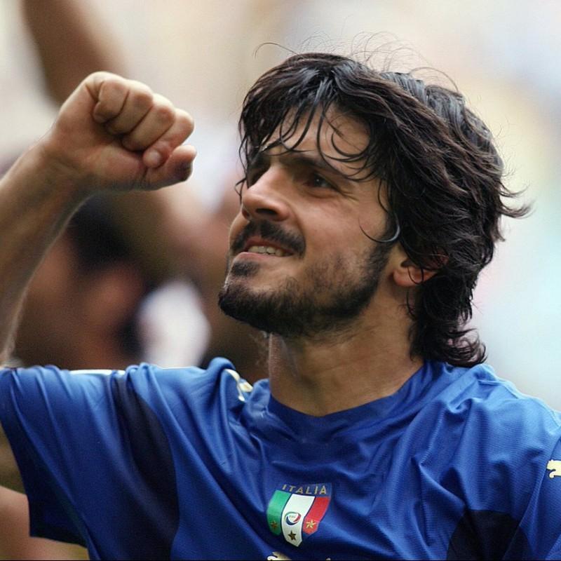Gattuso's Match-Issued/Worn Italia Shirt, 2006 World Cup