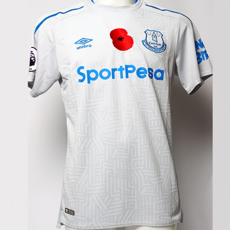 Issued Poppy Away Game Shirt Signed by Everton FC's Muhamed Bešić