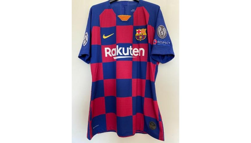 Messi's Match-Issued Barcelona Shirt, UCL 2019/20 + Bib