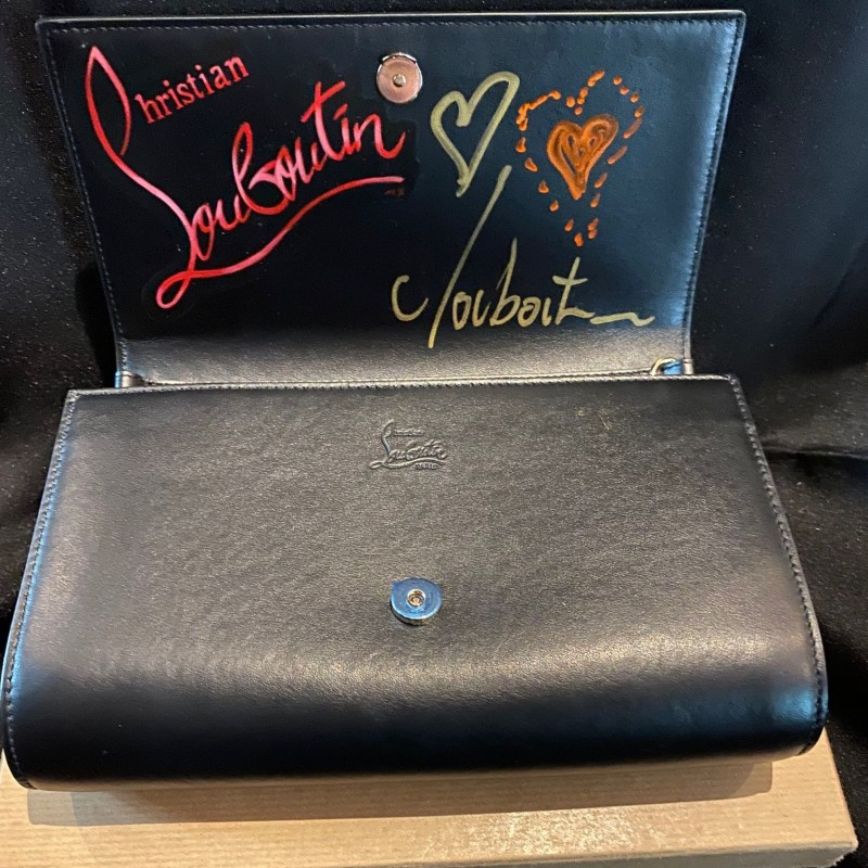 Christian Louboutin Purse Signed with Custom Artwork
