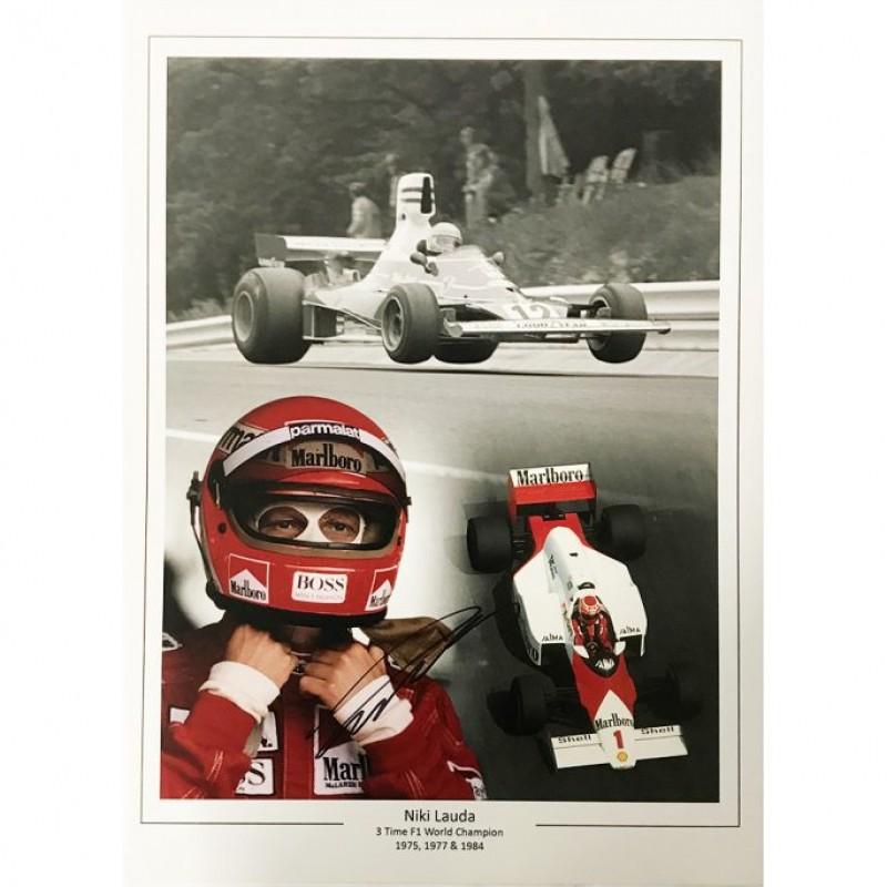 Niki Lauda Signed Photo Display