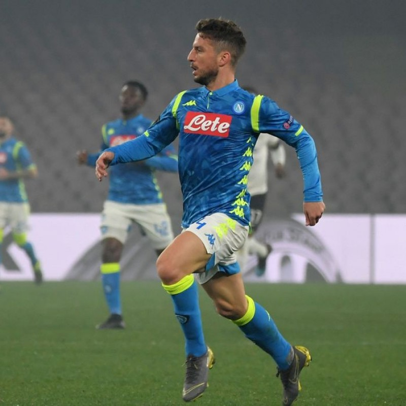 Mertens' Napoli Worn and Signed Shirt, 2018/19