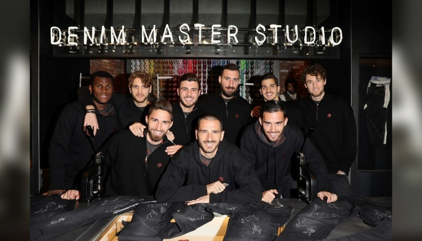 Denim Diesel Jeans Signed by the AC Milan Players