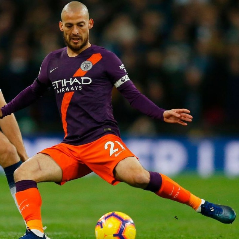 David Silva's Manchester City Match Shorts, Premier League 2018/19