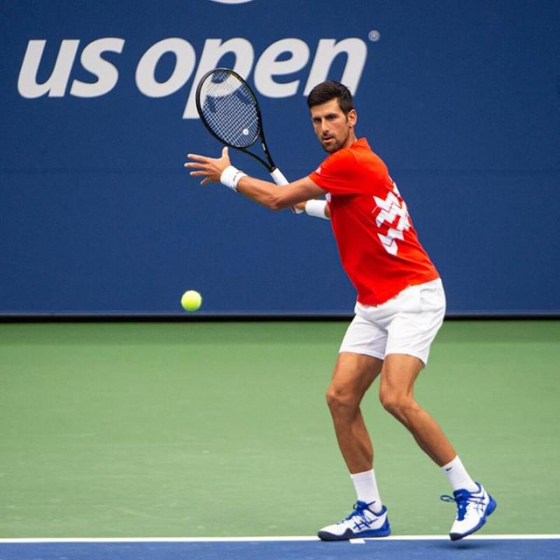 Wilson US Open Tennis Ball Signed by Novak Djokovic