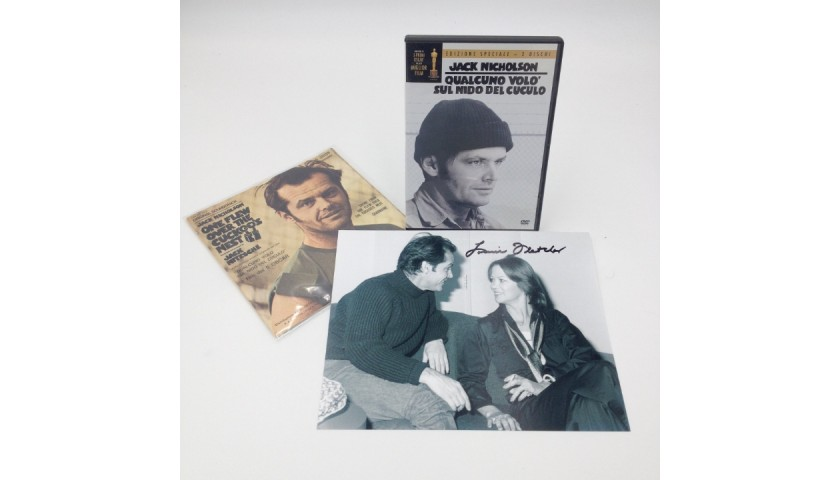 """""""One Flew Over the Cuckoo's Nest"""" Photograph Signed by Louise Fletcher + DVD + Single"""