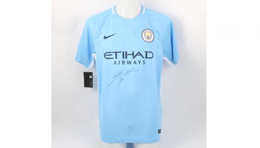 Official Manchester City Home Shirt Signed by Nicolas Otamendi