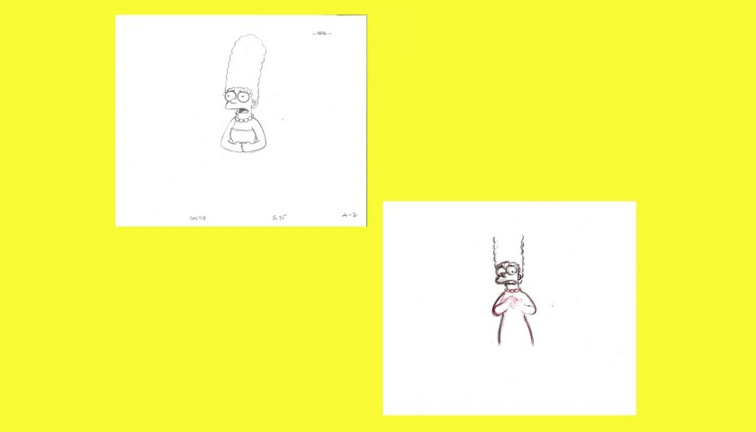 The Simpsons - Original Drawings of Marge Simpson