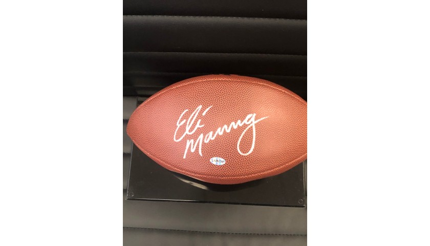 Football Signed by New York Giants Quarterback #10 Eli Manning