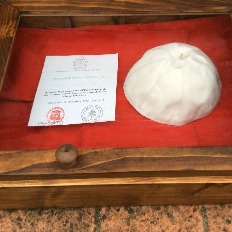 Pope Skullcap Worn by Pope Francis