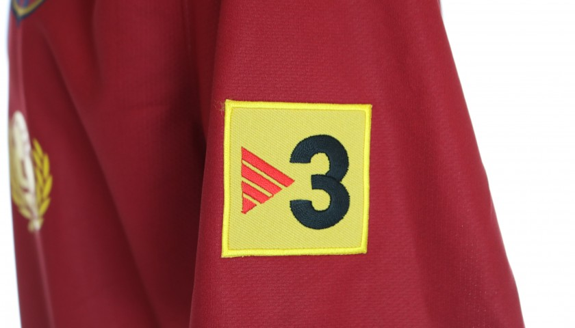 Busquets' Barcelona Match Shirt, Copa del Rey Final 2009