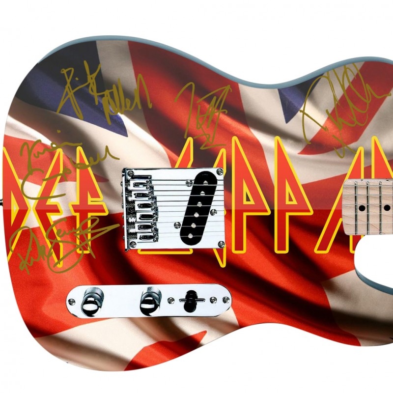 Def Leppard Custom Graphics Guitar