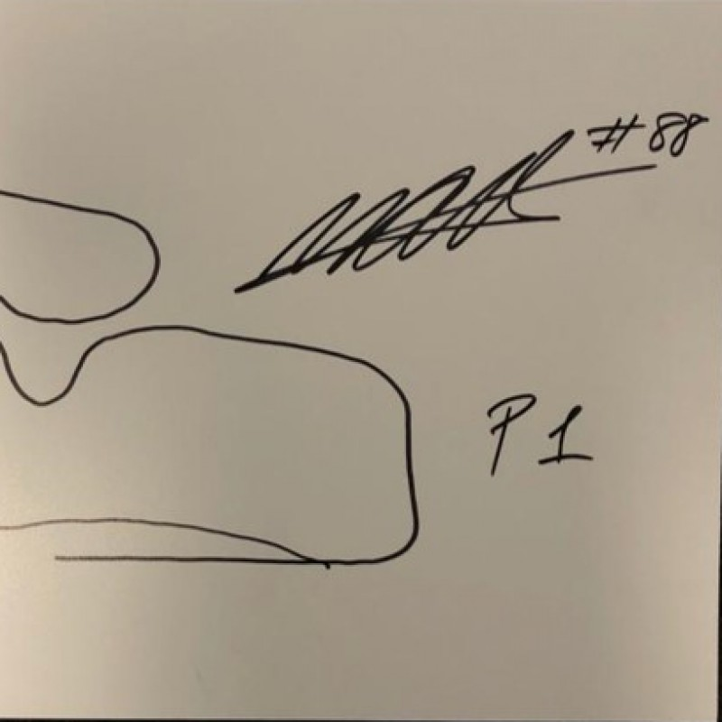 Signed Drawing of the Red Bull Ring Circuit - Austria by Miguel Oliveira