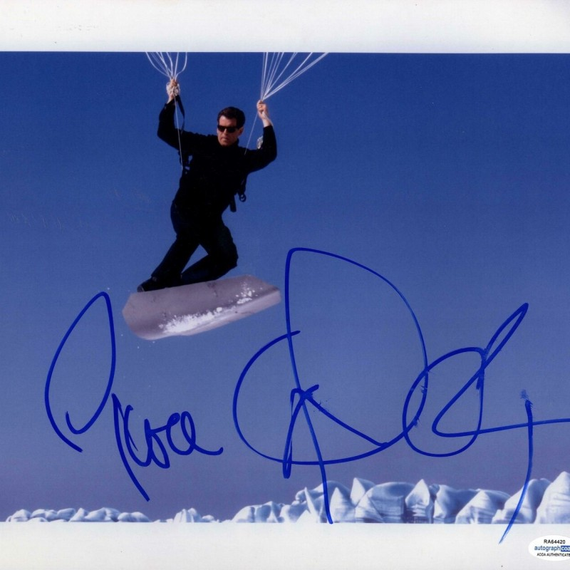 "Pierce Brosnan ""James Bond 007"" Hand Signed Photograph"