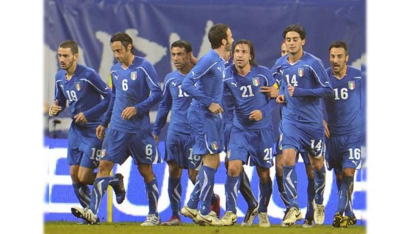 Pirlo's Match Shirt, Italy-Romania 2010 + Training Shirt
