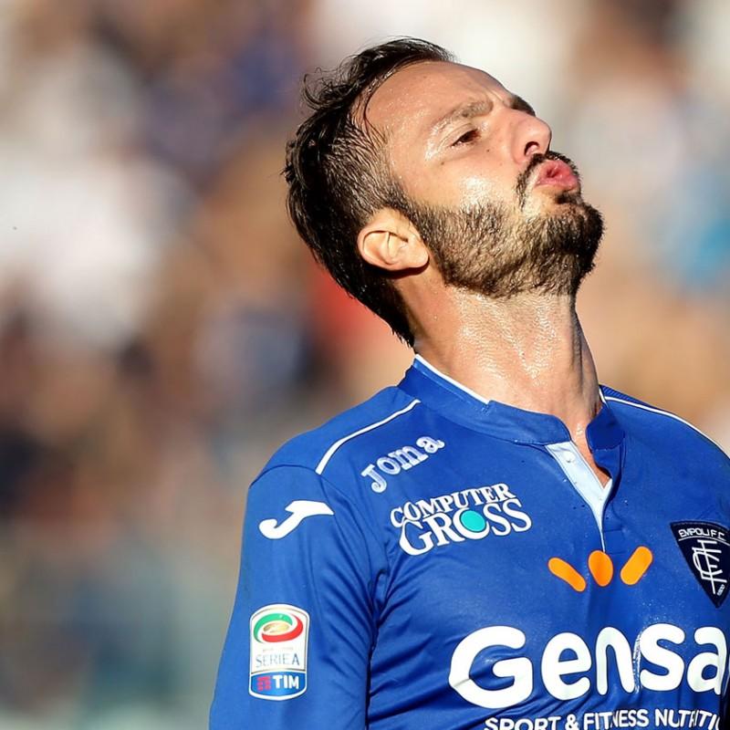 Gilardino Match issued/Worn Shirt, Empoli-Cagliari 17/12/16 - Signed