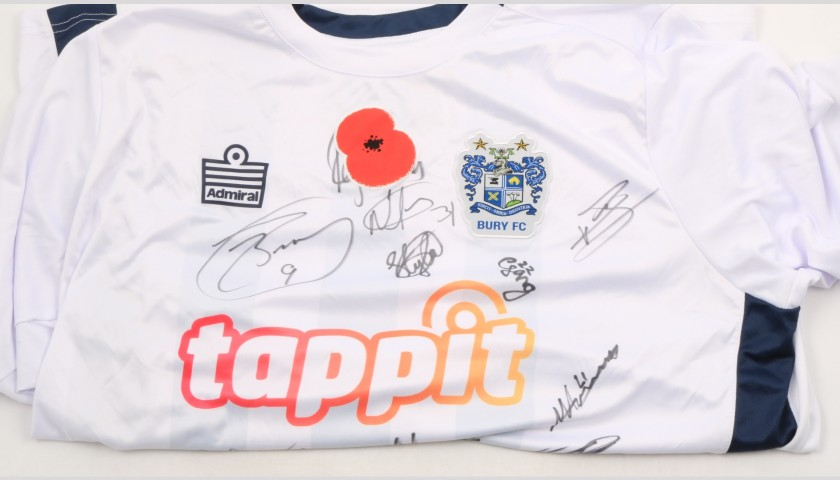 Bury Official Poppy Shirt Signed by the Team