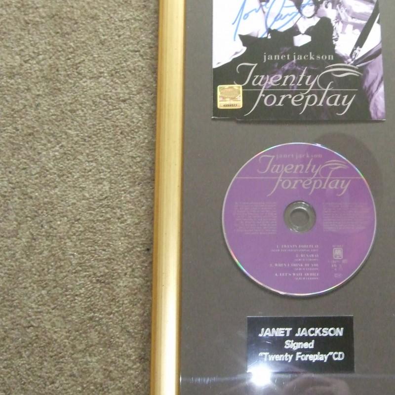 Janet Jackson signed 'Twenty Foreplay' CD