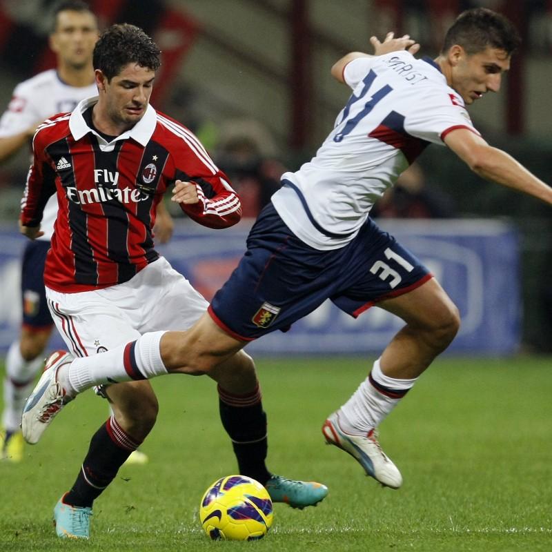 Sampirisi's Match-Worn Inter-Genoa 2012 Shirt, UNWASHED