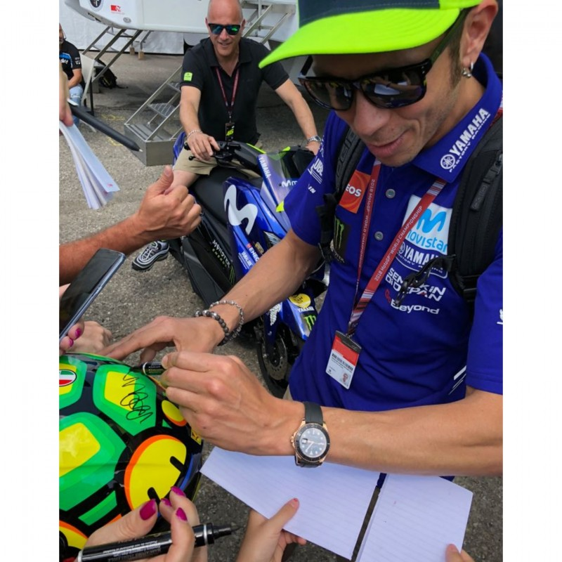 AGV Replica Helmet Personalized and Signed by Valentino Rossi