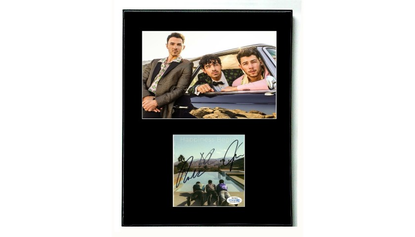 The Jonas Brothers Hand Signed Framed Display