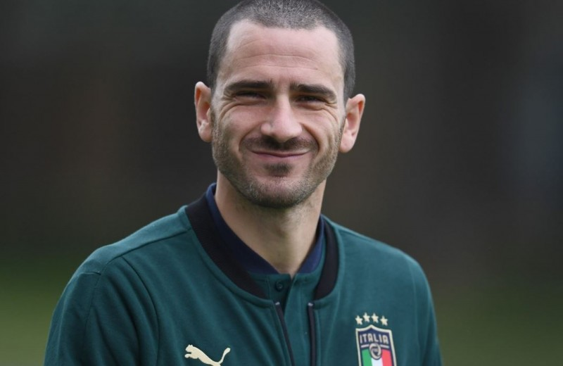 Official Italy Polo Shirt Worn by Leonardo Bonucci