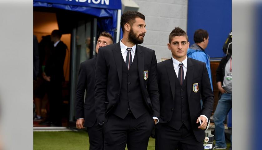 Italy National Football Team Jacket Worn by Antonio Candreva